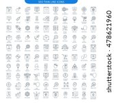 one hundred thin line icons set ... | Shutterstock .eps vector #478621960