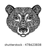 bear  grizzly or animal painted ... | Shutterstock .eps vector #478623838