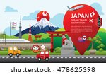 fuji  japan travel destination... | Shutterstock .eps vector #478625398