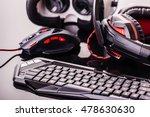 a gaming keyboard  mouse ... | Shutterstock . vector #478630630