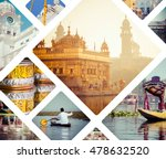 Collage Of India Images  ...