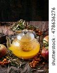 hot berry sea buckthorn tea... | Shutterstock . vector #478636276