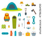 hiking equipment and gear icon... | Shutterstock .eps vector #478636450
