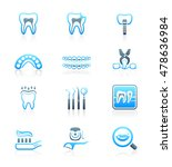 dental care tools and... | Shutterstock .eps vector #478636984