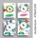 set of flyer  poster   magazine ... | Shutterstock .eps vector #478641244