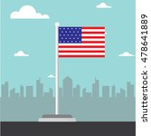 america flag flat design vector | Shutterstock .eps vector #478641889