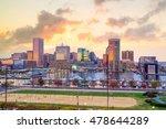 view of inner harbor area in... | Shutterstock . vector #478644289