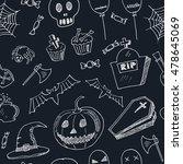 happy halloween seamless...   Shutterstock .eps vector #478645069