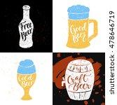 set of 4 hand lettering phrases ... | Shutterstock .eps vector #478646719