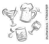 alcoholic beverages. coctail ...   Shutterstock .eps vector #478646989