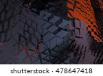 abstract random black triangle... | Shutterstock . vector #478647418