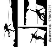 climber in rocks 02 | Shutterstock .eps vector #478648744