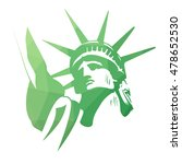 statue of liberty sticker | Shutterstock .eps vector #478652530