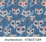 seamless pattern   day of the... | Shutterstock .eps vector #478657189