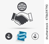 world handshake sign icon.... | Shutterstock .eps vector #478659790