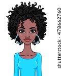 portrait of an african girl....   Shutterstock .eps vector #478662760