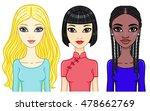 set of girls of different...   Shutterstock .eps vector #478662769