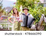couple in traditional bavarian... | Shutterstock . vector #478666390