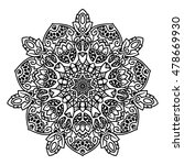 coloring book page for adults   ... | Shutterstock .eps vector #478669930
