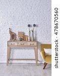 modern brick wall board... | Shutterstock . vector #478670560