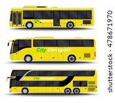 city transport. bus side view. | Shutterstock .eps vector #478671970