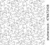 happy halloween pattern with... | Shutterstock .eps vector #478672438