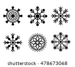 snowflakes black isolated on... | Shutterstock .eps vector #478673068