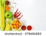 detox vegetables food and... | Shutterstock . vector #478686883