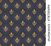 seamlessly tiling fleur de lis... | Shutterstock .eps vector #478700494