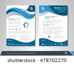front and back page annual... | Shutterstock .eps vector #478702270