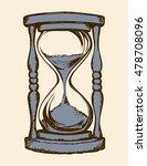 aged flowing grain timekeeper...   Shutterstock .eps vector #478708096