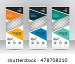 roll up banner stand template... | Shutterstock .eps vector #478708210