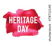 heritage day card  lettering ... | Shutterstock .eps vector #478712140