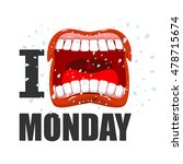 i hate monday. shout symbol of... | Shutterstock .eps vector #478715674