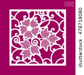 die cut ornamental panel with... | Shutterstock .eps vector #478718080