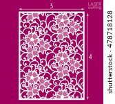 die cut ornamental panel with... | Shutterstock .eps vector #478718128