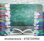 mathematical formulas on... | Shutterstock . vector #478720984
