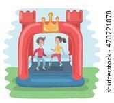 vector illustration of kids... | Shutterstock .eps vector #478721878