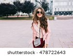 portrait of cute girl with long ... | Shutterstock . vector #478722643