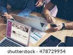 business team brainstorming... | Shutterstock . vector #478729954