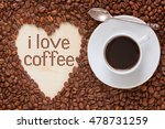 hot coffee in coffee cup with... | Shutterstock . vector #478731259