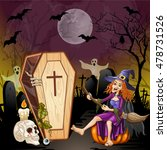 halloween background with a... | Shutterstock .eps vector #478731526