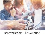 global strategy connection...   Shutterstock . vector #478732864
