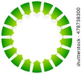 rotating green arrows point... | Shutterstock .eps vector #478738300