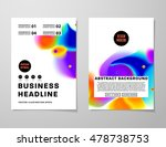 cover template with abstract... | Shutterstock .eps vector #478738753