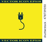 plug icon. | Shutterstock .eps vector #478739350