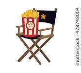 pop corn director chair film...   Shutterstock .eps vector #478743004