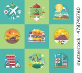 vector travel banners set.... | Shutterstock .eps vector #478743760