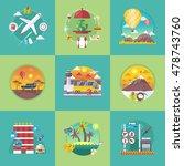 vector travel banners set.... | Shutterstock .eps vector #478743760