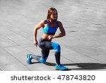 fitness woman doing push ups... | Shutterstock . vector #478743820